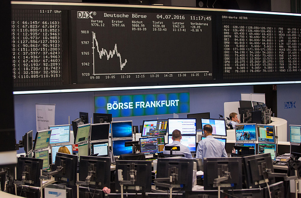 Piso de operaciones de la Bolsa de Frankfurt (Getty Images)