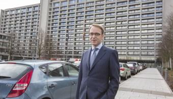 Jens Weidmann, presidente del Deutsche Bundesbank, posa frente a la sede del banco central alemán (Getty Images)