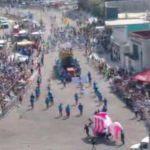 Carros alegóricos participan en carnaval de Veracruz . (Noticieros Televisa