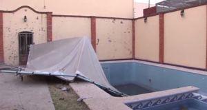Patio de la casa donde fue abatido 'El H2' en Nayarit. (Noticieros Televisa)