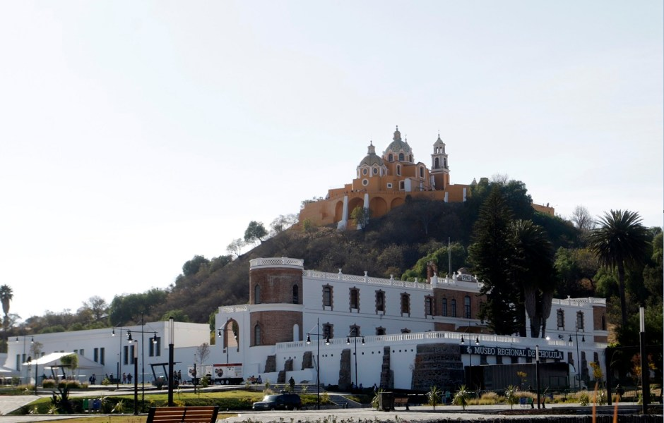 Zona arqueológica de Cholula; Rafael Moreno Valle se despide de la gubernatura de Puebla con la inauguración de un espectáculo audiovisual en la zona