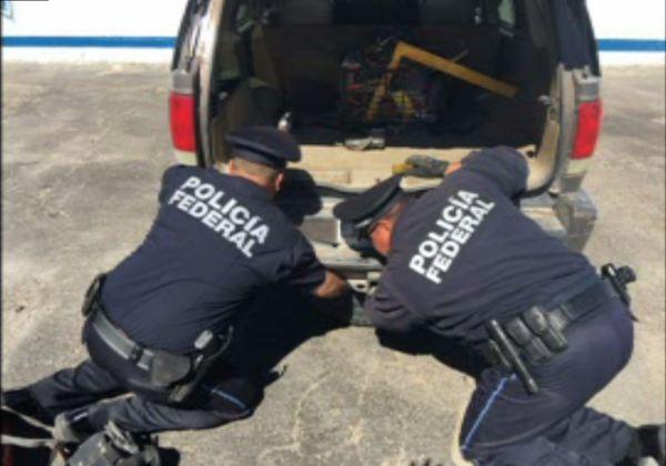 Policía Federal decomisa casi 8 kilos de metanfetamina cerca de Ciudad Juárez, Chihuahua