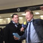 Este miércoles por la noche, en un vuelo proveniente de Los Ángeles, California, Conan O´Brien llegó a la Ciudad de México. (Twitter @jorge_ugalde)