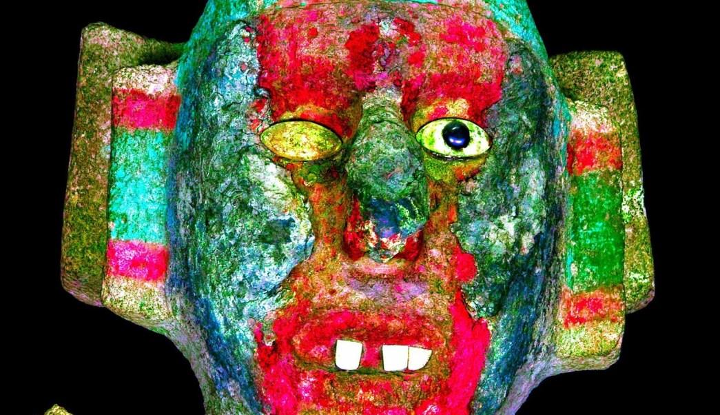A partir del análisis de la policromía en escultura de Coyolxauhqui se reveló la identidad de nueve tallas; deidades del pulque y la lluvia son revelados (NTX)
