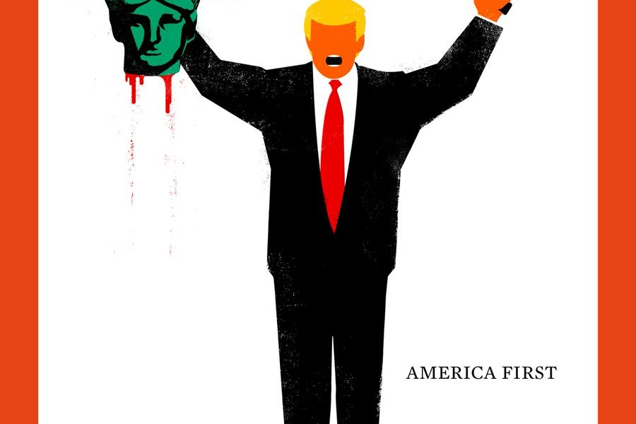 Portada de la revista alemana Der Spiegel ilustrada por el cubano Edel Rodríguez.