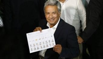 El candidato oficialista Lenín Moreno obtenía el domingo la mayoría de votos en las elecciones de Ecuador (Getty Images)