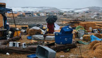 El campamento había sido el hogar de los manifestantes durante casi un año en su intento por frenar la construcción del oleoducto Dakota Access.