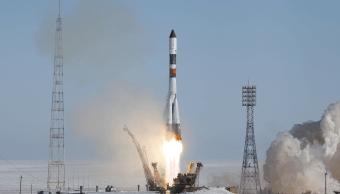 El carguero espacial ruso Progress MS-05 despegó desde el cosmódromo de Baikonur, Kazajistán. (AP)