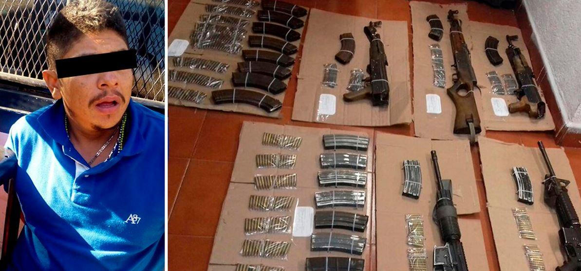 En el momento de la detención el hombre se encontraba en posesión de armamento de alto calibre (Gobierno de Guerrero)