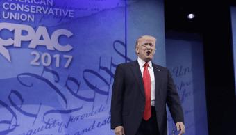 El presidente Trump en la Conferencia anual de Acción Política Conservadora. (AP)