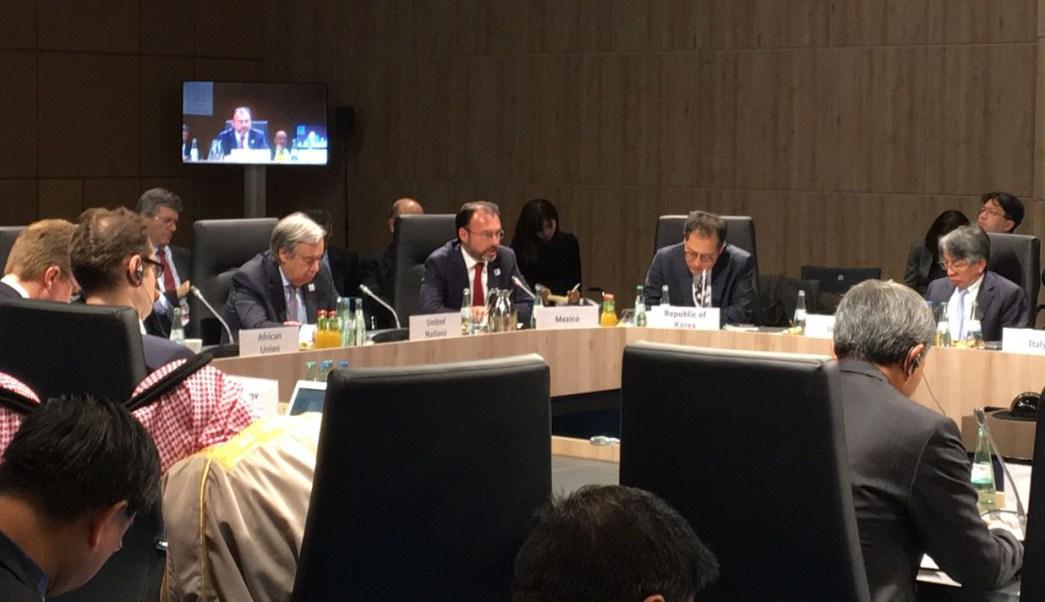 Participación del canciller Luis Videgaray durante la reunión de Ministros de Relaciones Exteriores del G20 en Bonn Alemania (Oficial)