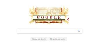 El doodle de Google festeja el centenario de la Constitución Mexicana (Especial)