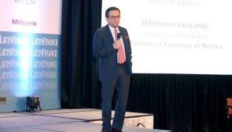El secretario Guajardo participó en la vigésimo segunda Cumbre Financiera Mexicana. (Twitter: @SE_mx)