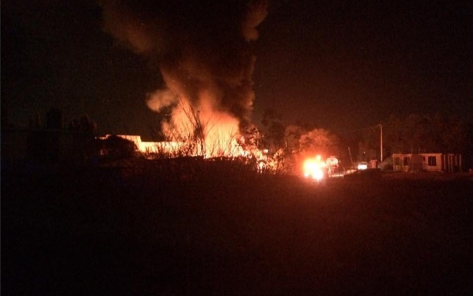 Un incendio afecta una recicladora de llantas en Teoloyucan, Estado de México; no se reportan lesionados (Twitter @Teoloyuquenses1)