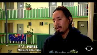 Tras cuatro días de permanecer en el Centro de Detención de Adelanto, en California, Isael fue deportado a Tijuana. (Noticieros Televisa)