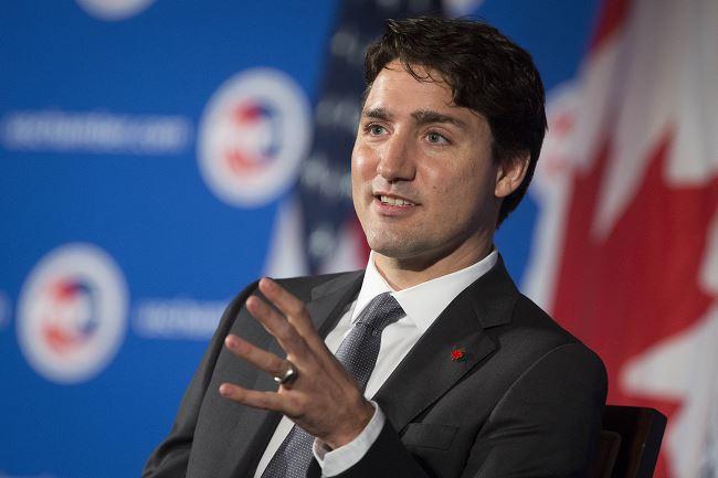 El primer ministro canadiense Justin Trudeau habla en la Cámara de Comercio de los Estados Unidos en Washington, DC. (Getty Images/archivo)