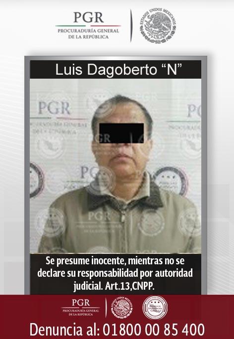 Luis Dagoberto 'N', extraditado por la PGR a Estados Unidos. (PGR)