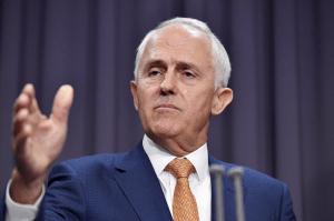 Malcolm Turnbull, primer ministro de Australia, en conferencia de prensa.