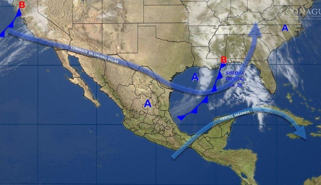 Mapa con el pronóstico del clima para este 21 de febrero; seguirán los fuertes vientos en la mayor parte de México. (SMN)