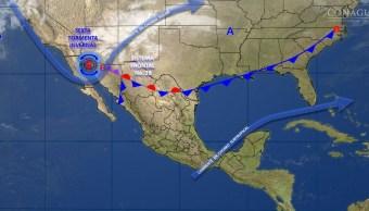 Mapa con el pronóstico del clima para este 13 de febrero; habrá ambiente frío en noreste y norte de México. (SMN)