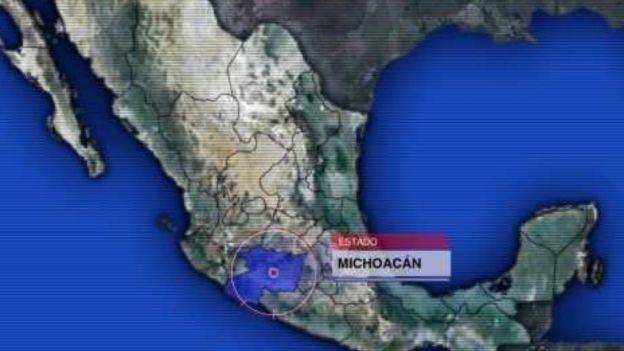 Mapa de Michoacán (Noticieros Televisa)