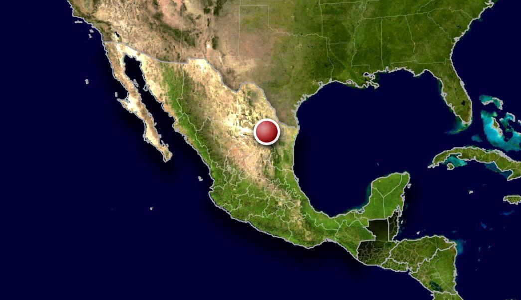 Mapa de Nuevo León. en el norte de México (AP, archivo)