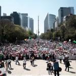 Autoridades reportaron saldo blanco en la marcha en Reforma contra Trump Foto: Manuel Escareño