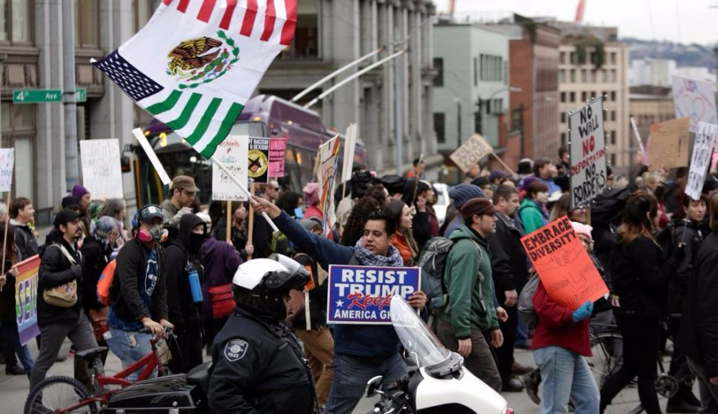 Fotografía que muestra una manifestación antitrump. (Reuters/archivo)