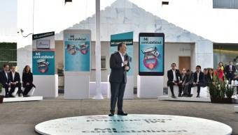"""José Antonio Meade, secretario de Hacienda, durante la presentación de la App """"Mi Contabilidad"""" (SHCP)"""