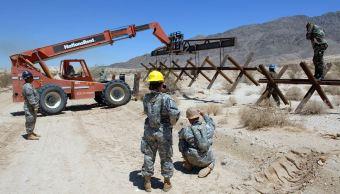 El Centro, California, es uno de los tres puntos clave para la construcción del muro fronterizo.