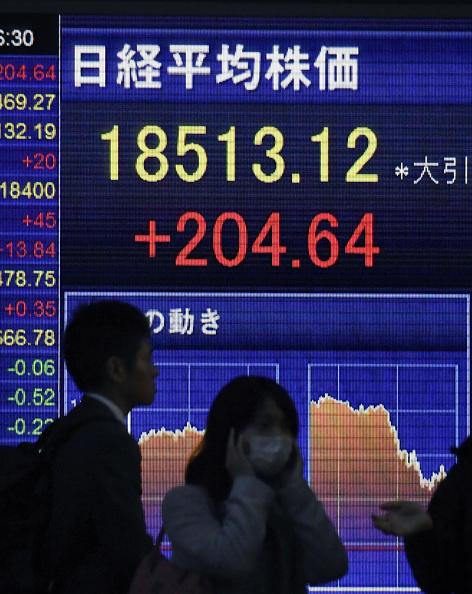 Pizarra de la Bolsa de Tokio (Getty Images)