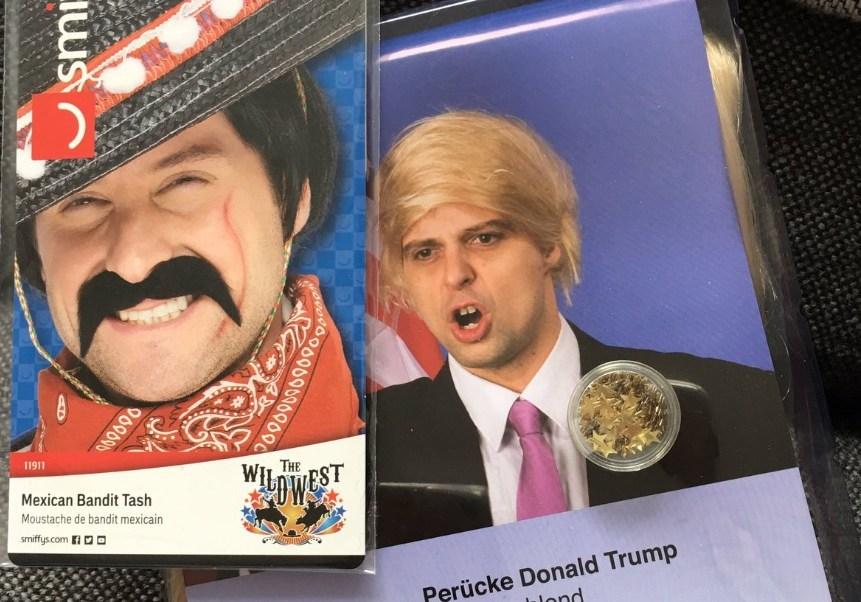 La peluca de Donald Trump está casi agotada en Austria al ser el objeto más popular en el carnaval de este país (Twitter @billy79)