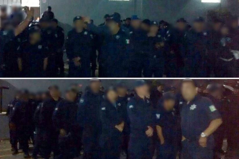 Los 152 agentes municipales declararon ante la Procuraduría General de Justicia en el Estado (PGJE) (SSP de Michoacán)