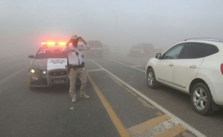 El accidente ocurrió poco antes de las 17:00 horas, en el kilómetro 105 de la carretera federal 45 México-Ciudad Juárez (Twitter/@InfoTotalChih)