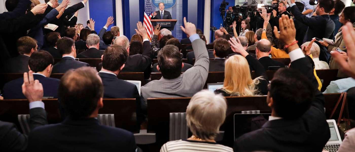 Reunión con Sean Spicer en la Casa Blanca (AP, archivo)
