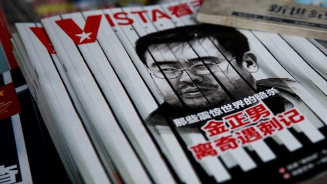 La portada de una revista china presenta un retrato de Kim Jong Nam en Beijing (Reuters)