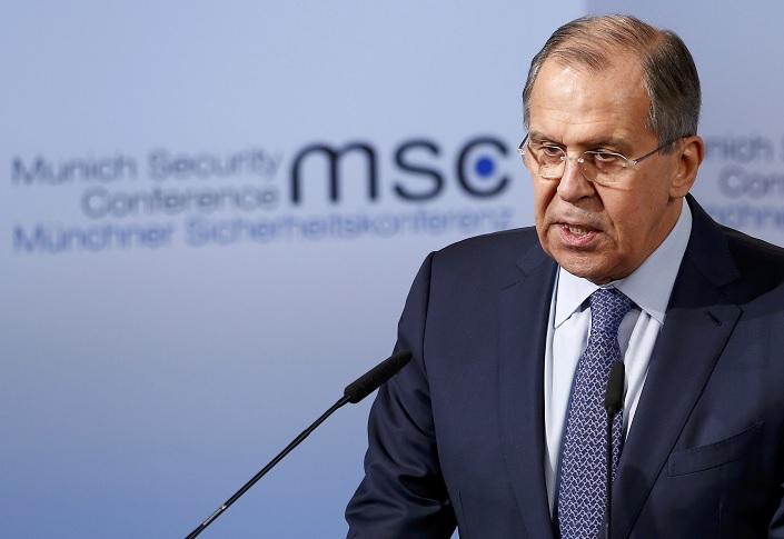 El ministro de Relaciones Exteriores de Rusia, Sergey Lavrov, pronuncia su discurso durante la 53 Conferencia de Munich sobre Seguridad (Reuters)