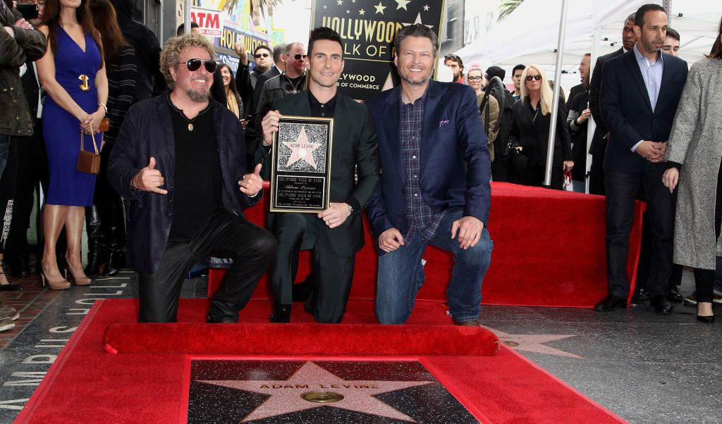 Sammy Hagar, Adam Levine y Blake Shelton.