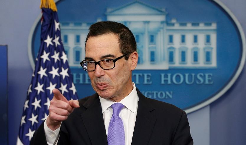 Steven Mnuchin, secretario de Tesoro de Estados Unidos, habla en una conferencia de prensa en la Casa Blanca en Washington (Reuters)