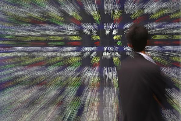 Tablero de la Bolsa de Tokio (Getty Images)