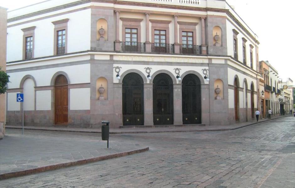 Teatro de la República, ubicado en la ciudad de Querétaro.