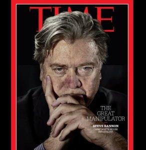 Steve Bannon es el Gran manipulador, según la nueva portada del Time (Cortesía Time)