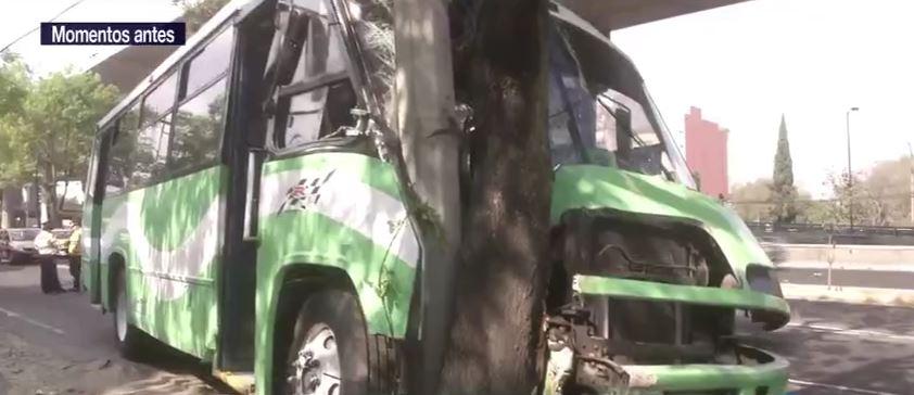 Transporte público choca en Periférico Sur, CDMX; cinco personas resultaron lesionadas. (Noticieros Televisa)