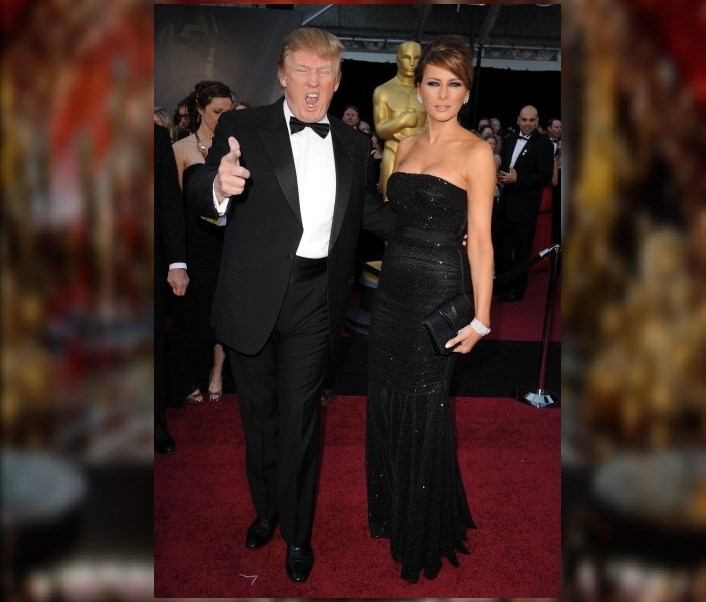 Donald Trump y su esposa Melania Trump llegan a la 83rd Annual Academy Awards celebrada en el Teatro Kodak en Hollywood, California. (Getty Images/archivo)
