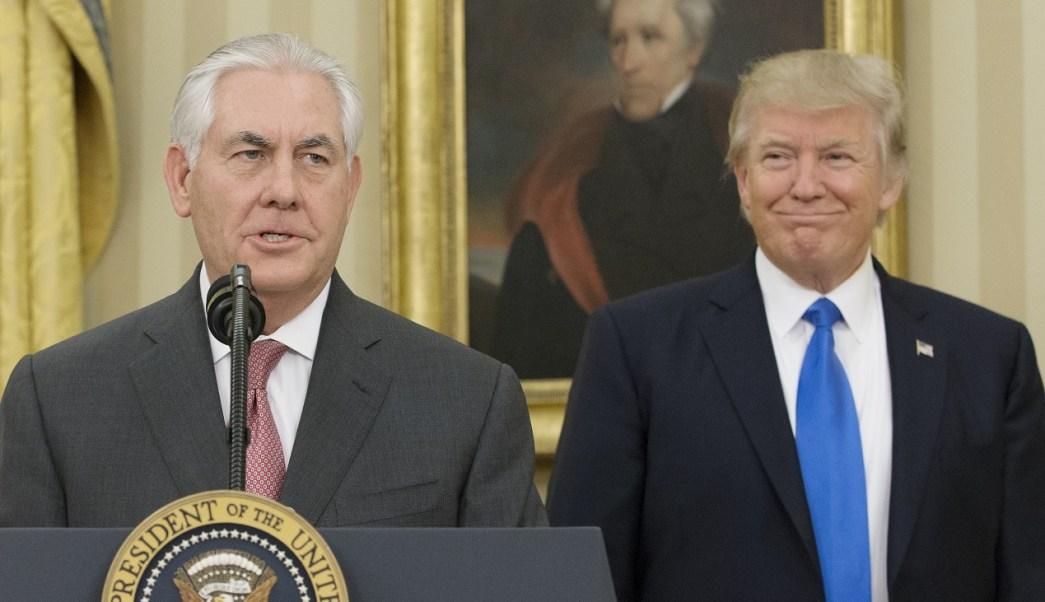 El secretario de Estado, Rex Tillerson, aparece en la imagen después de ser juramentado como miembro del gabinete del presidente Donald Trump (Getty Images/archivo)