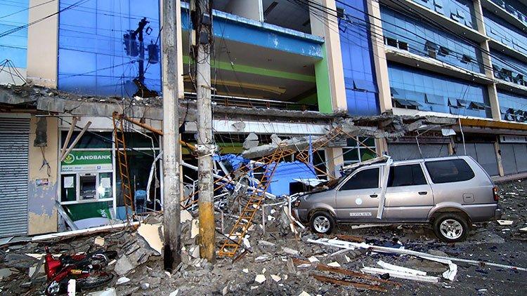 Un sismo de magnitud 6.5 sacudió el sur de Filipinas.