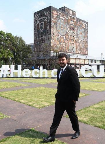 Danton fue nombrado uno de los cuatro líderes emergentes del Sector Espacial por el Consejo Consultivo de la Generación Espacial (Twitter/@UNAM_MX)