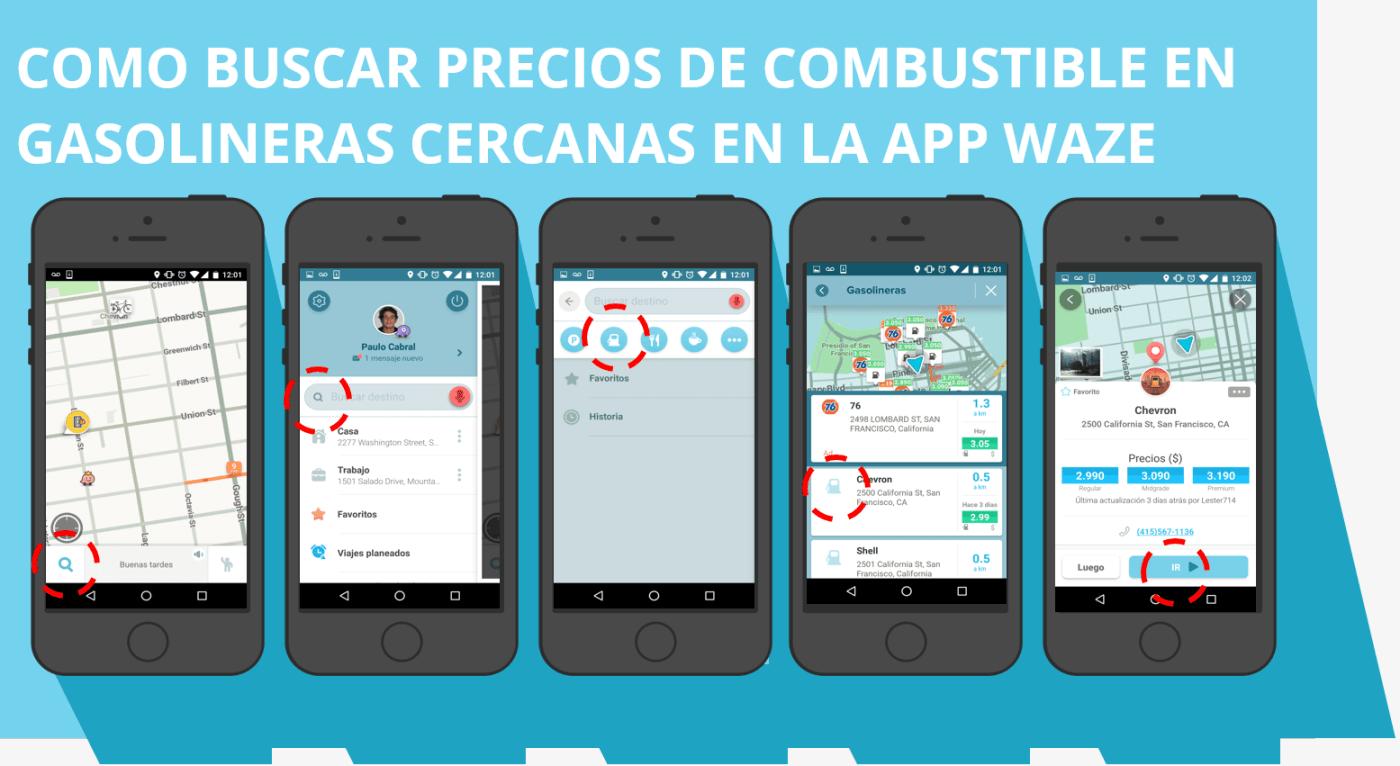 La aplicación Waze ofrece un nuevo servicio a los usuarios. Ahora, además de consultar el tráfico, también se puede buscar y comparar los precios de las gasolinas en cualquier parte de México. (Waze)
