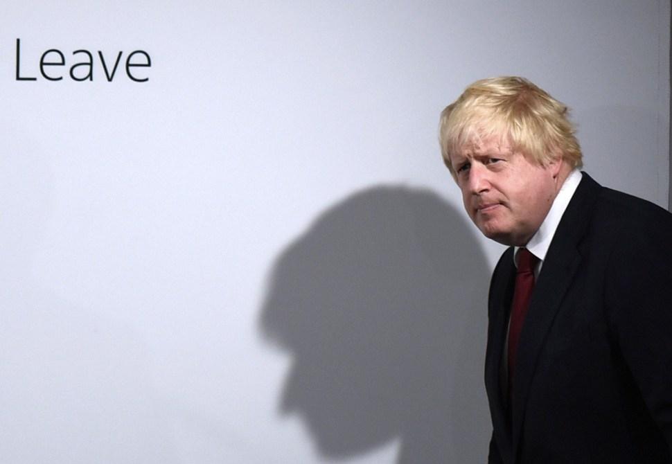 Boris Johnson, quien apoyó la salida de Reino Unido de la Unión Europea.