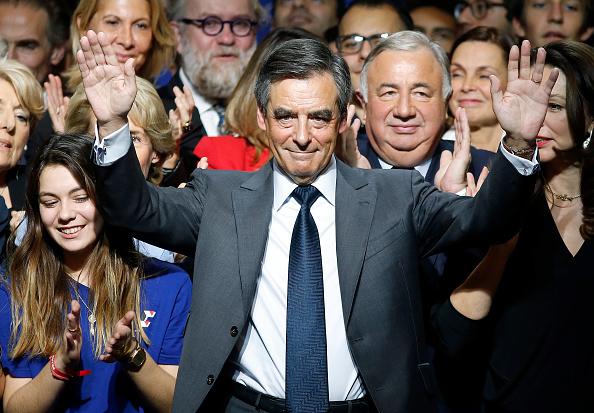 El candidato del partido de derecha 'Les Republicains' (LR), Francois Fillon, ganó la primera ronda de las elecciones para las primarias de derechas. (Getty Images/archivo)